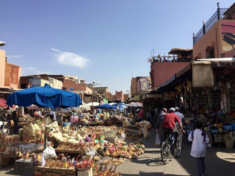 de markt in Marrakech